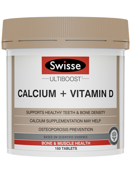 Swisse Ultiboost Calcium + Vitamin D 150 Tablets