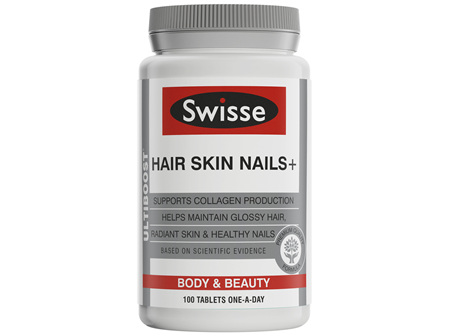 Swisse Ultiboost Hair Skin Nails+ Tablets 100 Pack