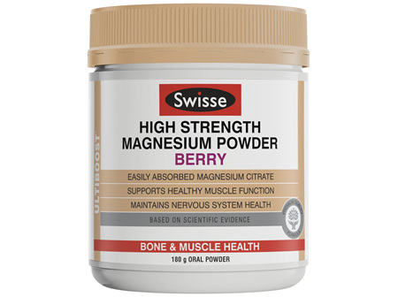 Swisse Ultiboost High Strength Magnesium Powder Berry 180g