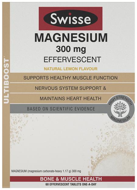 Swisse Ultiboost Magnesium 300Mg Effervescent 60 tablets