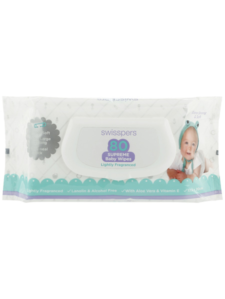 Swisspers Baby Wipes 80 Pack