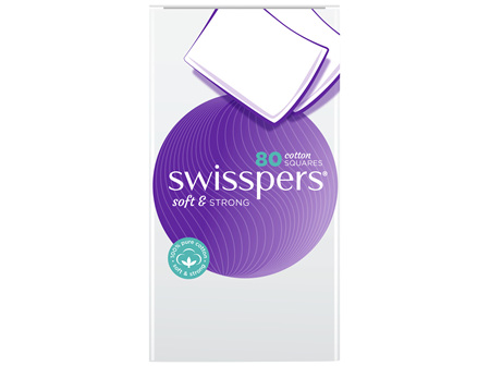 Swisspers Cotton Squares 80 pack
