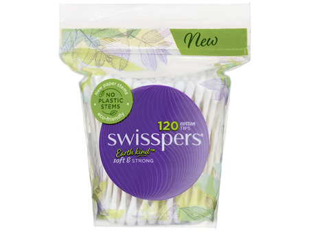 Swisspers Cotton Tips Paper Stems 120pk