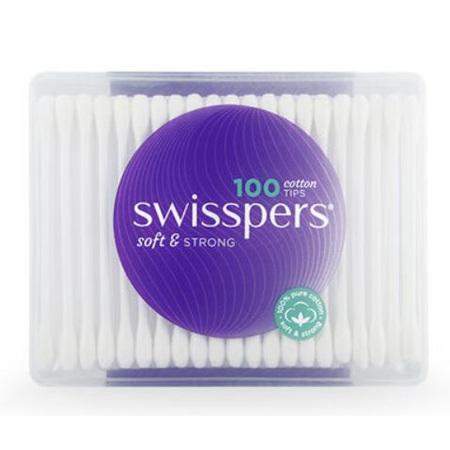 SWISSPERS CottonTips 100 PlasticTub