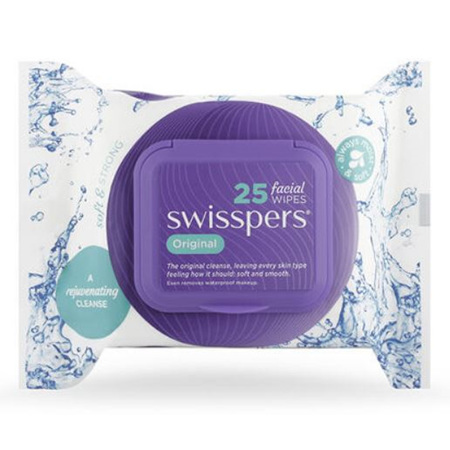 SWISSPERS Fac. Wipes Unscented 25