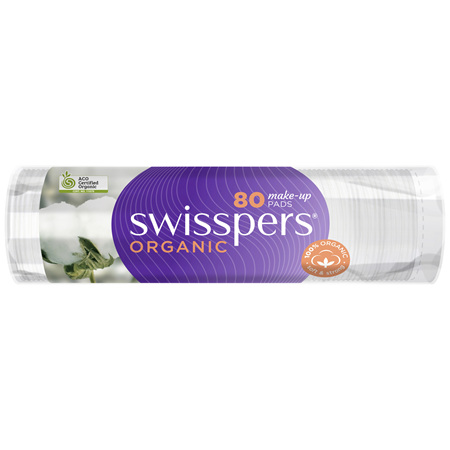 Swisspers Organic Make-Up Pads 80 pack