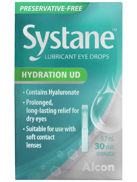 Systance Lubricant Eye Drops Hydration UD 30 Pack x 0.7mL
