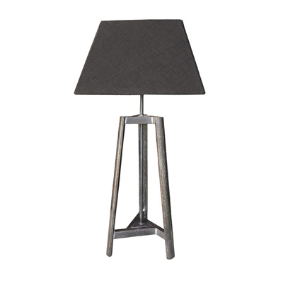 Table Lamp with  Square Black Shade