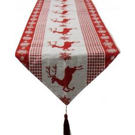 Table Runner Prancing Reindeer