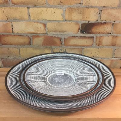 Taft Round Metal Trays