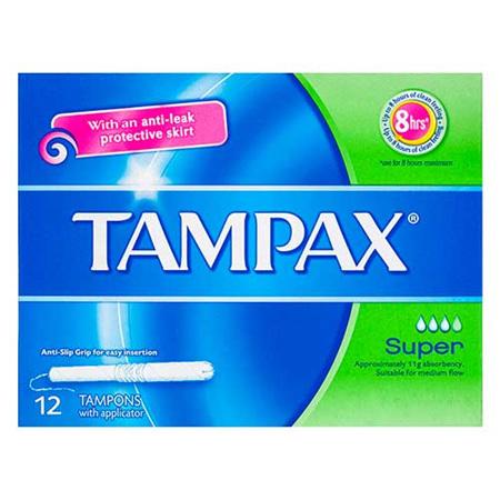 TAMPAX Tampon Super 12s