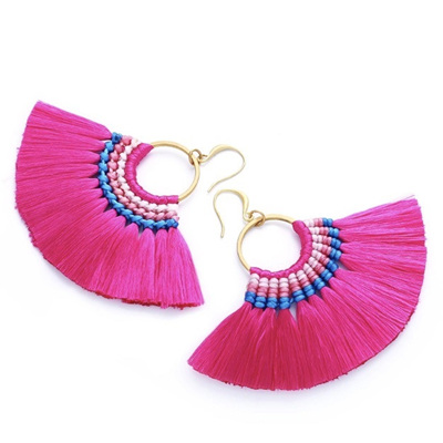 Tango Tassel Earrings - Fuchsia