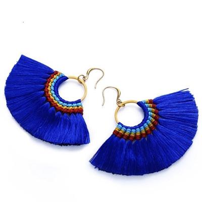 Tango Tassel Earrings - Peacock