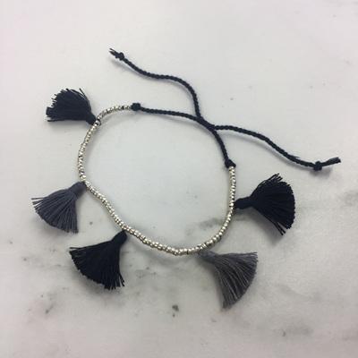 Tassel Galore Bracelet - Black
