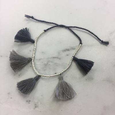 Tassel Galore Bracelet - Silver