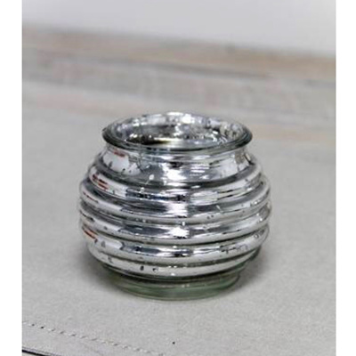 Tea Light Candleholder Mercury Glass