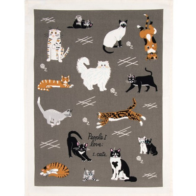 Tea Towels - People I Love: Cats