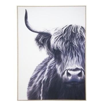 Teague Bull Classic Canvas Framed 100x140cm