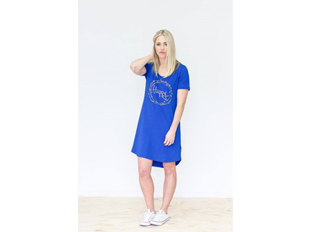 TEE DRESS BLUE HAPPY SIZE 12