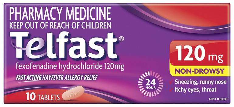 Telfast 120mg 10 Tablets