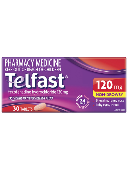 Telfast 120mg 30 Tablets