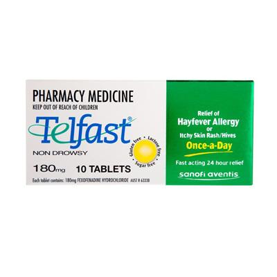 Telfast 180mg - 10 tablets