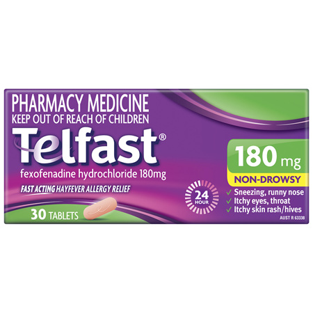 Telfast 180mg 30 Tablets