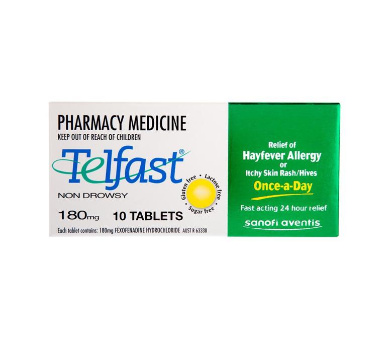 Telfast 180mg Tablets 10