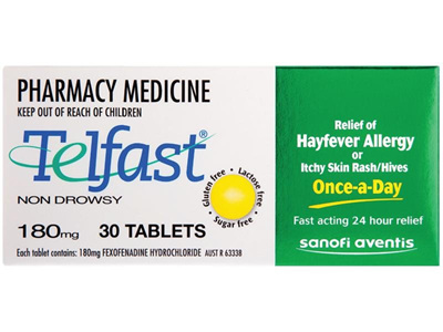 Telfast 180mg Tablets 30