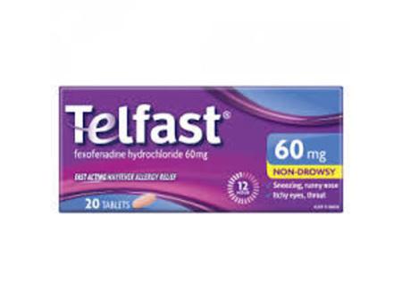 Telfast 60mg- 20 tablets