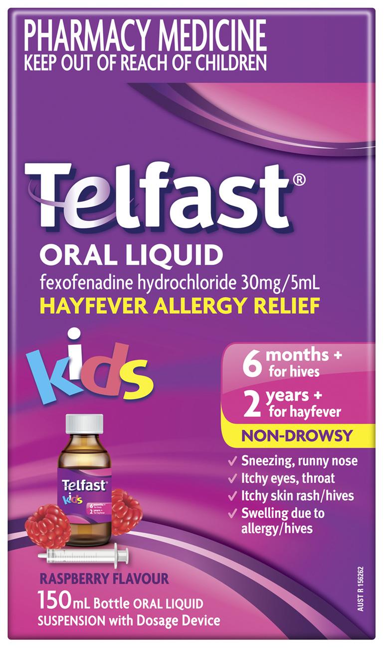 Telfast Oral Liquid 150mL 6 mg/mL