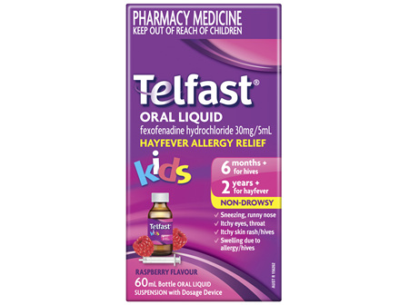 Telfast Oral Liquid 30mg / 5mL 60mL