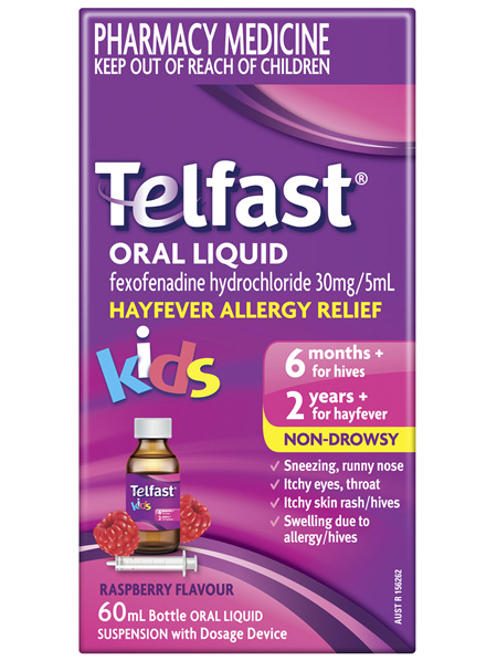 Telfast Oral Liquid 60mL 6 mg/mL