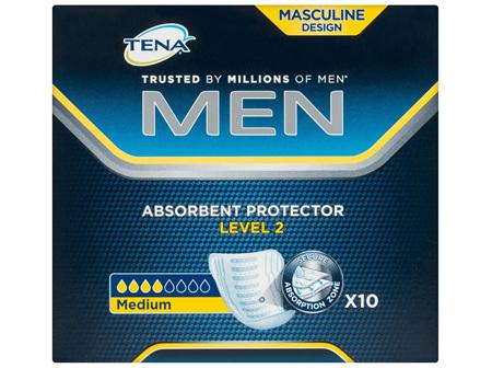 Tena Men Absorbent Protector Level 2 Medium 10 Pack