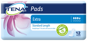 TENA Pads Extra Standard Length 12 pack