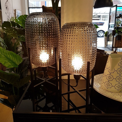 Tham Glass Lamp - Grey 25cm