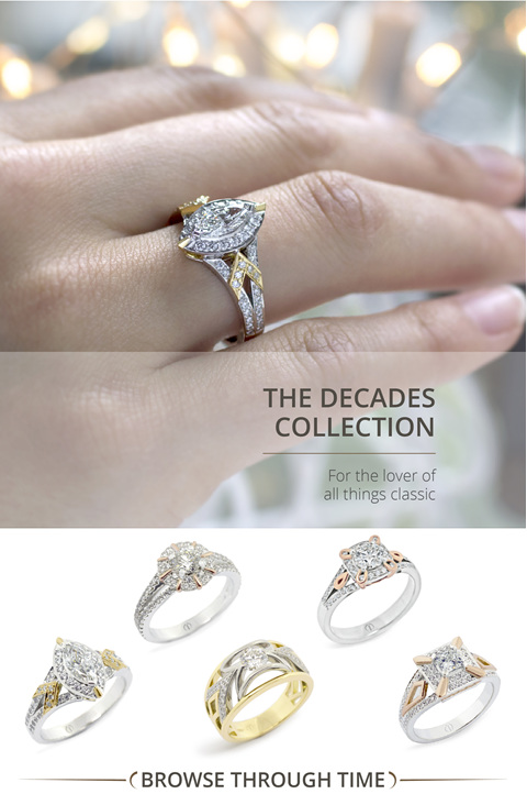 The Decades Collection: Art Nouveau, Art Deco inspired modern diamond jewellery