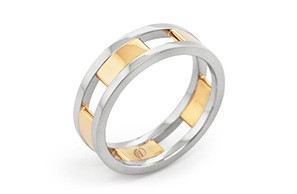 CIRCLIPD DELICATE MENS WEDDING RING