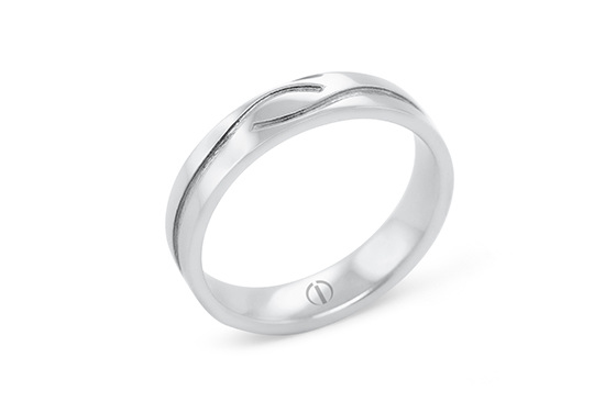 The Delicate Collection Croft Mens Wedding Ring