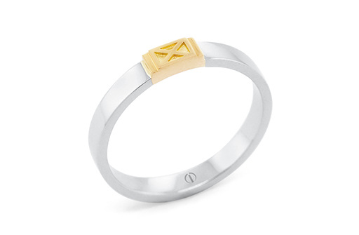 The Delicate Collection Empire Mens Wedding Ring