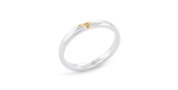 The Delicate Collection Naked Barcelona Ladies Wedding Ring