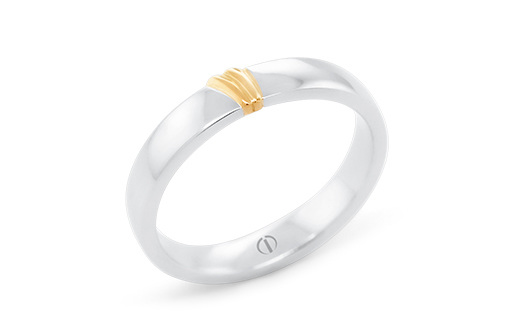 The Delicate Collection Naked Barcelona Mens Wedding Ring