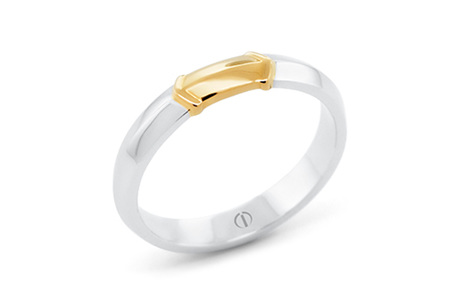 RAIZE DELICATE MENS WEDDING RING