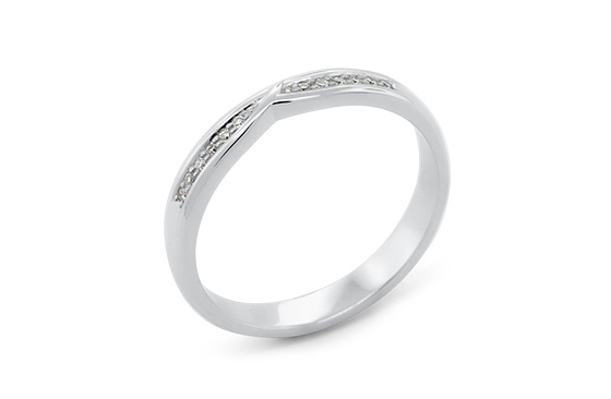 The Delicate Collection Waved Ladies Wedding Ring