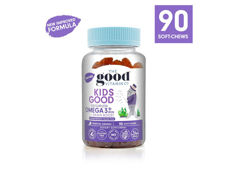 The Good Vitamin Co. Kids Good Odourless Omega 3 + Iron 90 Gummies