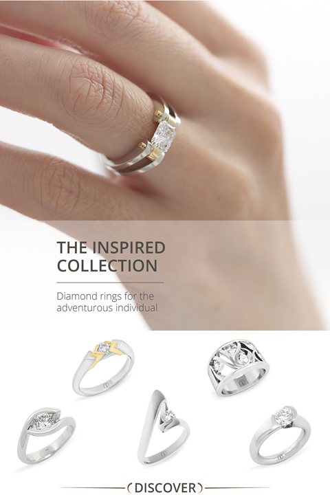 The Inspired Collection: Contemporary designer diamond engagement rings