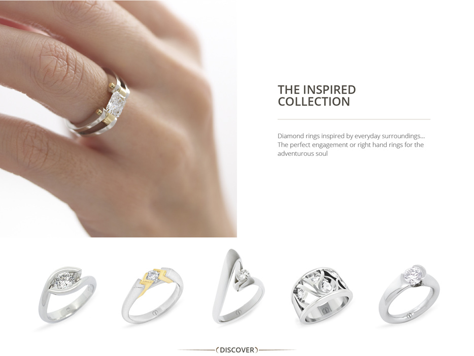 8a530f207 The Inspired Collection: Contemporary designer diamond engagement rings