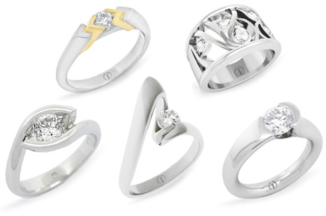 The Inspired Collection contemporary diamond engagement rings