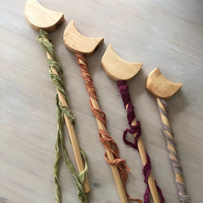 The Woodlands Natural Moon Wands