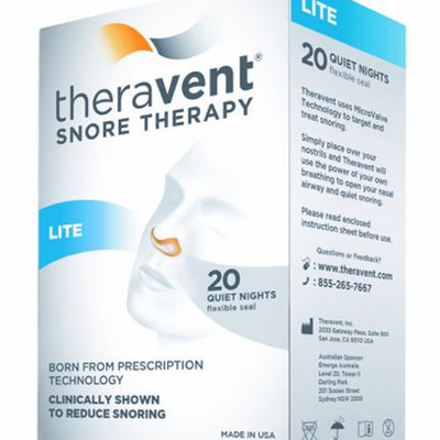 Theravent snoring therapy